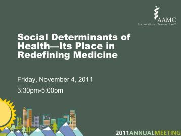 Social Determinants of Health—Its Place in Redefining Medicine