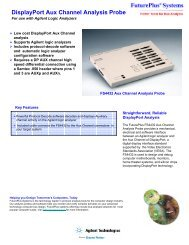 DisplayPort Aux Channel Analysis Probe - FuturePlus Systems