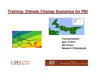 PEI Scenarios of Future Climate Change - UPEI Projects