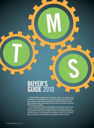 BUYER'S GUIDE 2010 - Inbound Logistics