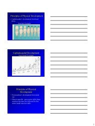 Principles of Physical Development