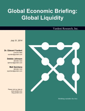 Global Liquidity - Dr. Ed Yardeni's Economics Network