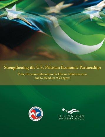 Strengthening the U.S.-Pakistan Economic Partnership: