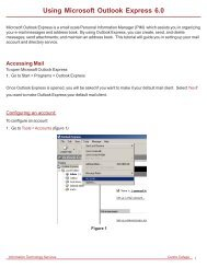 Using Microsoft Outlook Express 6.0 - Centre College