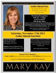 Saturday, November 17th 2012 - Sharon Buck NSD
