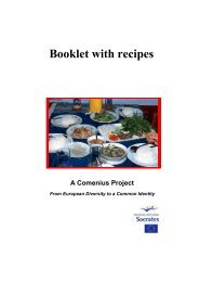 Booklet with recipes - European Shared Treasure