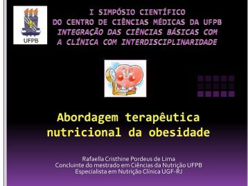 abordagem terapêutica nutricional da obesidade