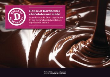 House of Dorchester chocolates are made - The House of Dorchester