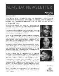 ALMEIDA NEWSLETTER - Almeida Theatre
