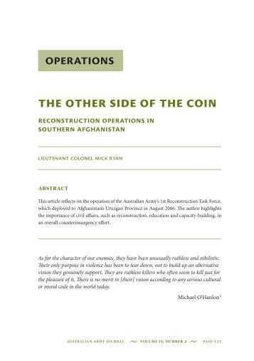 Operations The Other Side of the COIN ... - Boekje Pienter