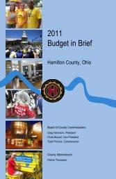 2011 Budget in Brief - Hamilton County, Ohio