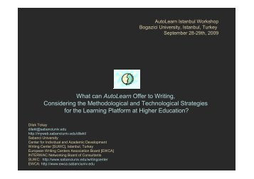 What can AutoLearn Offer to Writing, Considering the ... - myWeb