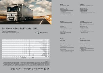 Das Mercedes-Benz ProfiTraining 2011.