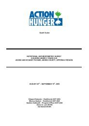 South Sudan NUTRITIONAL ANTHROPOMETRIC SURVEY ...