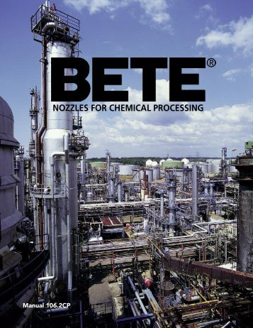 BETE Chemical Processing - BETE Fog Nozzle, Inc.
