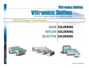 WAVE SOLDERING REFLOW SOLDERING SELECTIVE ... - SMTA