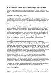 De (dis)continuïteit van een kapitaalvennootschap en de ... - NBA