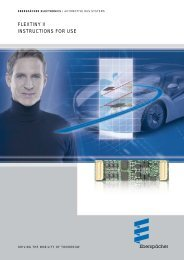FlexTiny2 Family Instructions for Use - Eberspächer Electronics