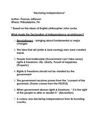 What Makes the Declaration of Independence Revolutionary?