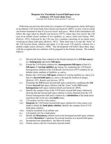 Fourier viscoelastic model derivation
