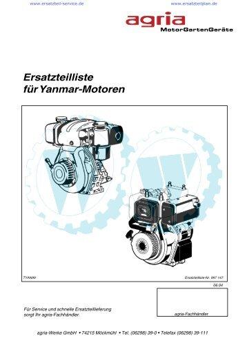 Ersatzteilliste für Yanmar-Motoren - Wölfnitzer Werkzeugkiste GmbH ...