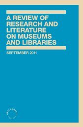 A review of research and literature on museums - Arts Council ...