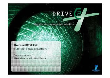 Overview DRIVE C2X - Project web sites - Inria