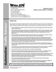 14059: Wireless Traffic Advisor™ Controller - Busch & Associates