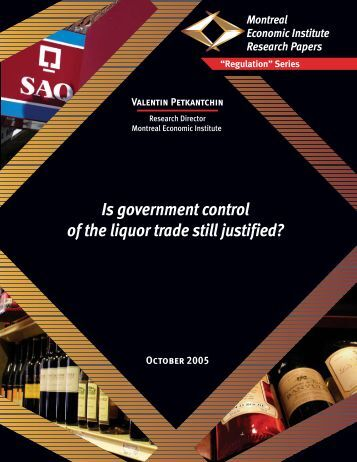 Is government control of the liquor trade still justified? - IEDM