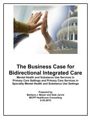Business Case for Integrated Care - National Council
