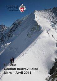 Bulletin Section neuvevilloise Mars – Avril 2011 - CAS La Neuveville