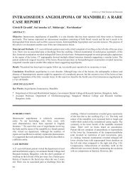intraosseous angiolipoma of mandible: a rare case report - Aosr.co.in