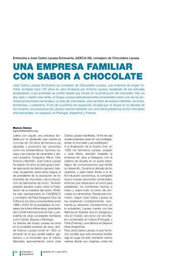 una empresa familiar con sabor a chocolate - Instituto Internacional ...