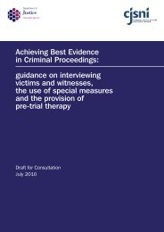 Draft Achieving Best Evidence Guidance - Department of Justice