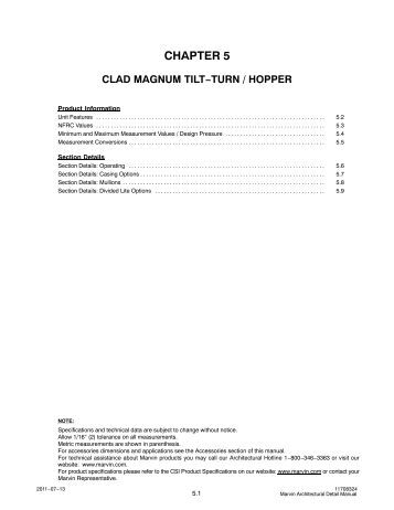 Clad Magnum Tilt-turn/Hopper - Marvin Windows and Doors