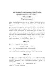 Opgave 1 Opgave 2 - Københavns Universitet
