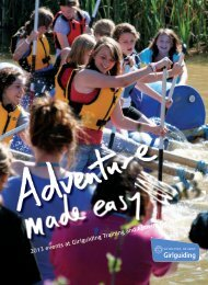 2013 events at Girlguiding Training and Activity ... - Girlguiding UK