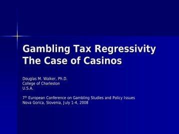 Gambling Tax Regressivity The Case of Casinos - European ...