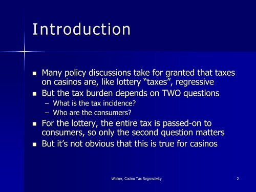 Gambling Tax Regressivity The Case of Casinos - European ...