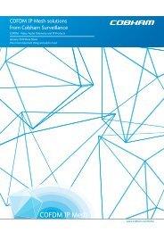 COFDM IP Mesh solutions from Cobham Surveillance