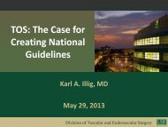 TOS: The Case for Creating National Guidelines - VascularWeb