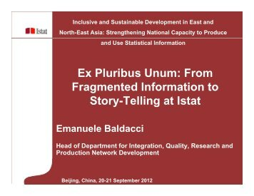 From Fragmented Information to Story-Telling at Istat - Subregional ...