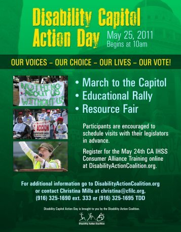 • March to the Capitol • Educational Rally • Resource Fair