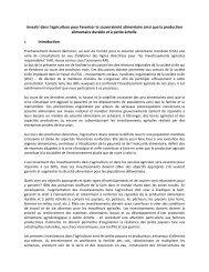 Note de Synthèse: Invesstissement Agricole (iar)_juillet 2012 - CSM