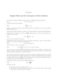 Singular Points and the Convergence of Series Solutions