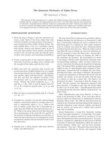 The Quantum Mechanics of Alpha Decay