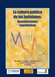 La Cultura Politica de los Bolivianos: Aproximaciones Cuantitativas