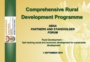 Comprehensive Rural Development Programme