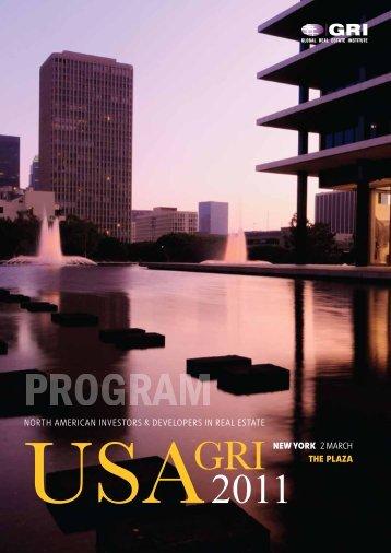 USA GRI 2011 - Global Real Estate Institute