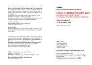 Evaluer les Partenariats Public-Privé en Europe - Ramau